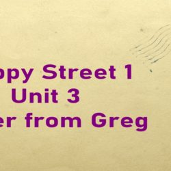 Letter from Greg Happy Street Unit 3