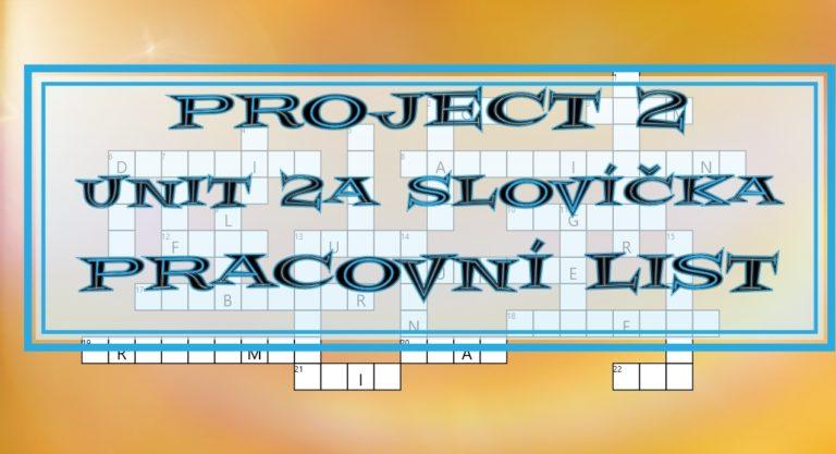 Project 2 Unit 2A slovíčka