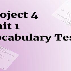 Project 4 Unit 1 testy na slovíčka