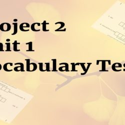 Project 2 Unit 1 Vocabulary tests