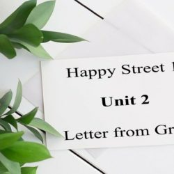 Happy street unit 2 letter from Greg