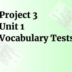 Project 3 Unit 1 testy na slovíčka