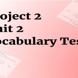 project 2 Unit 2 testy na slovíčka